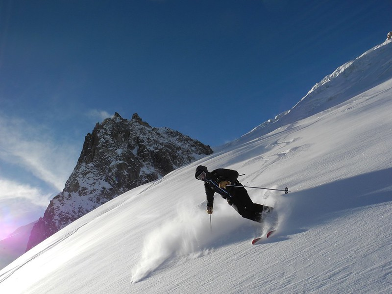 Exit from the Vrai VB. Skier: Steve Hartland