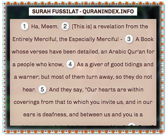 Browse, Read, Listen, Download and Share #Surah Fussilat