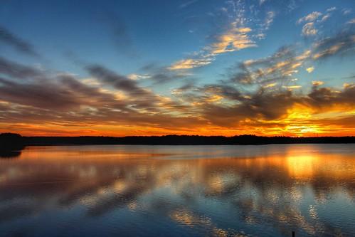 sunset reflections northcarolina