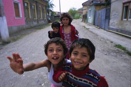 Tzigan children, Aiud, Romania.