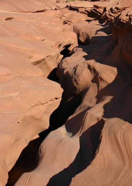 Slot canyon from ground level - just a crack in the Earth