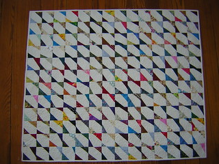 triangle scrap baby quilt | by Lynn Carson Harris