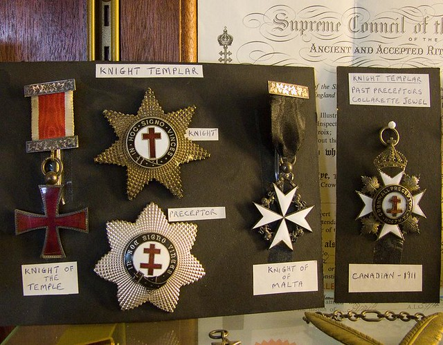 Knight Templar Masonic medals and insignia | In an exhibitio… | Flickr