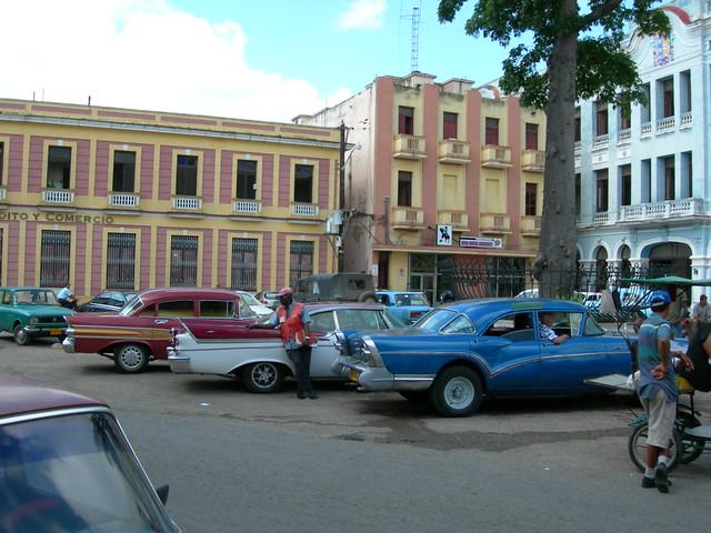 Cars parked, Plaza de los Trabajadores, Camaguey