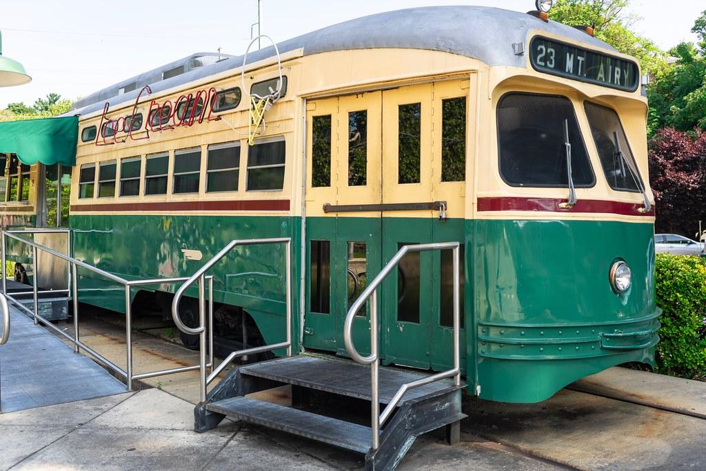 Trolley Car Diner Ice Cream Shop