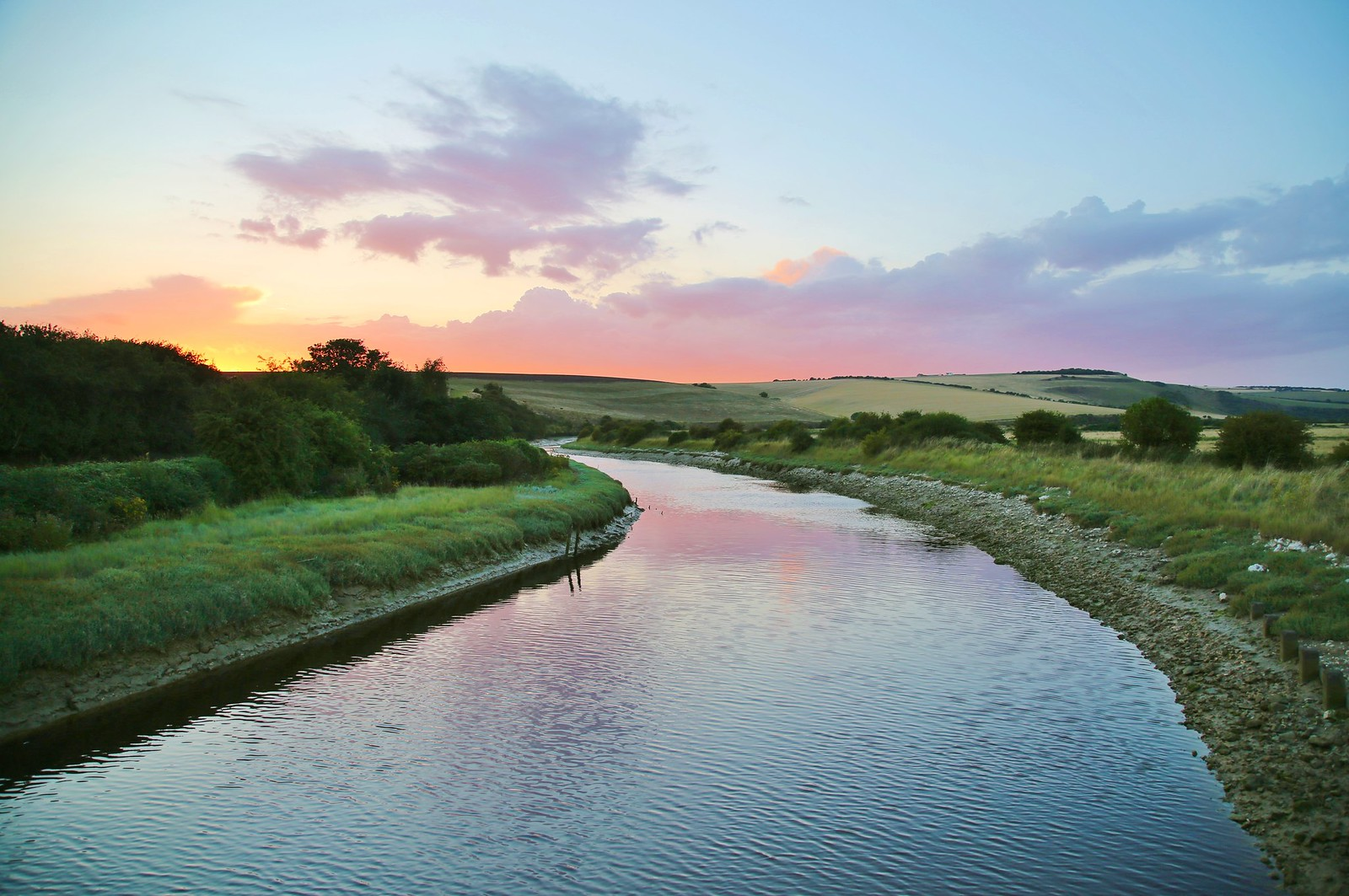 River Cuckmere at Exceat Bridge