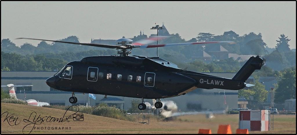 G-LAWX Sikorsky S-92  c/n 920007 Starspeed Ltd (EGLF-Farnborough) 16/07/2018