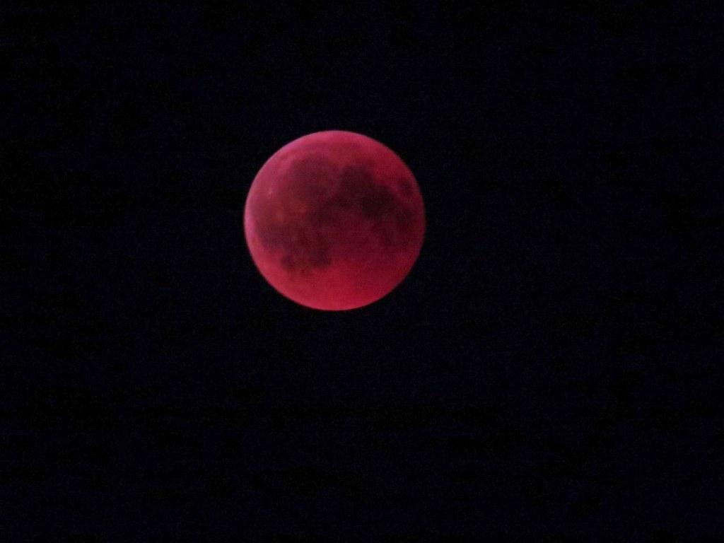 Blood moon during lunar eclipse  27July 2018
