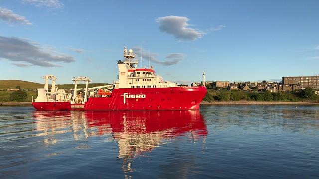 Fugro Venturer - Aberdeen Harbour Scotland - 22/6/2018