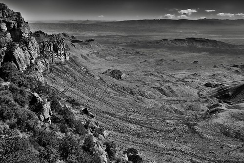 I Made It...and What a Freaking Amazing View It Was! (Black & White, Big Bend National Park | by thor_mark 