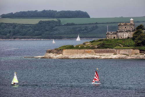 castle sailing atlantic fortress ships sails nature water maritime mood galvanol sailingship cornwall roselandpeninsula yacht