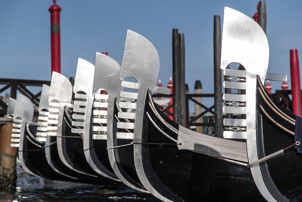 Ferro Da Gondola.Ferro Da Prora The Curved Top Is A Symbol Of The Doge S Ca