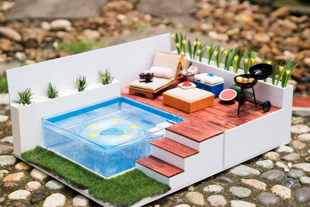 DIY Swimming Pool Set | Watch how I made this set here: yout ...