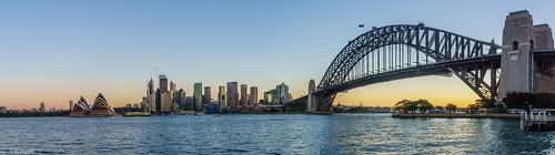 australia abendstimmung sydney kirribilli newsouthwales australien au panorama