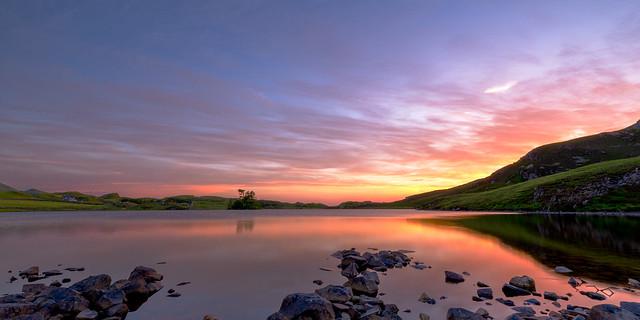 Blazing Skies over Llynnau Cregennan