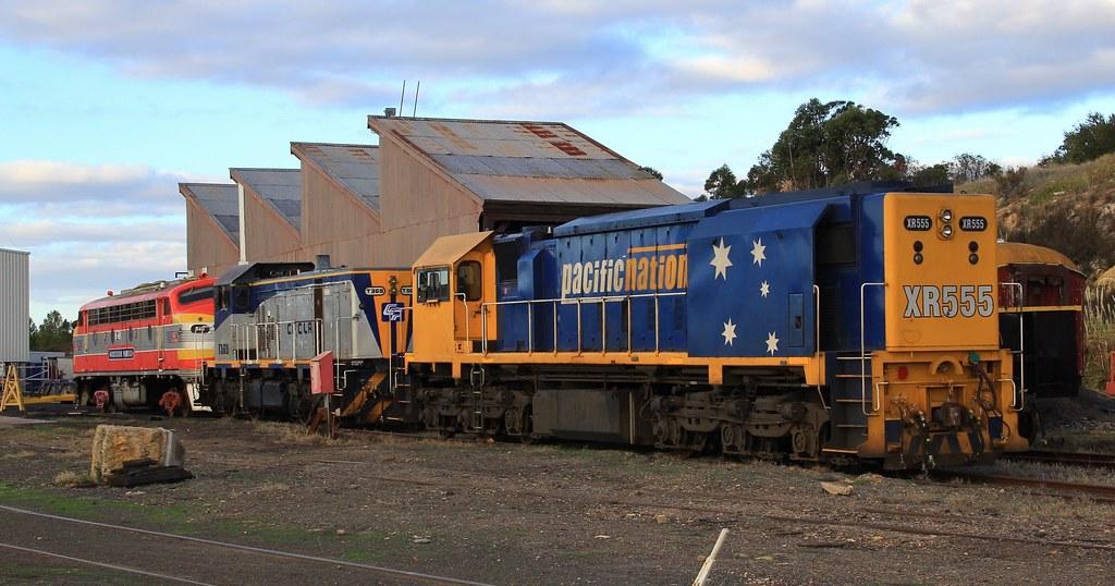 XR555 T369 and B65 in the SSR workshop yard in Bendigo by bukk05