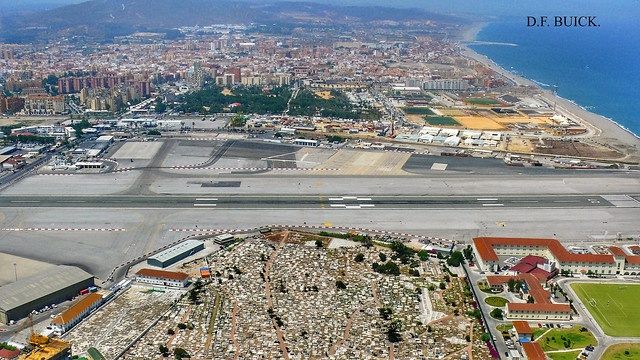 GIBRALTAR AIRPORT FROM THE ROCK