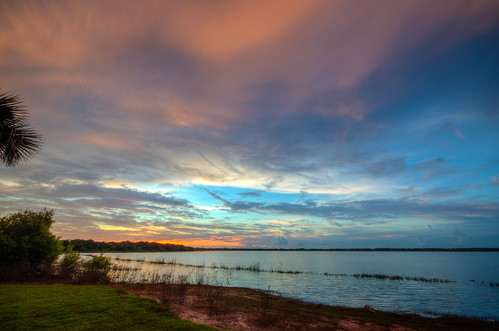 myakkalake sunset sun water myakkariver statepark sarasotaflorida fl fla florida sarasota reflection nature landscape