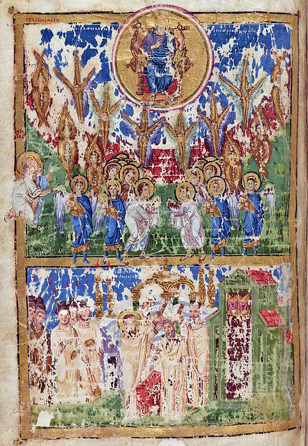 Vision of Isaiah: Christ in majesty, surrounded by angels, Seraphim & Cherubim etc