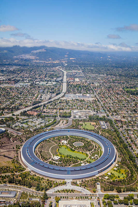 Apple Park Headquarters Aerial 2018 4