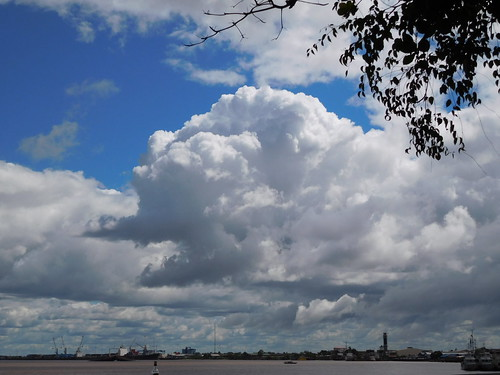 surinameriver clouds port waterkant paramaribo suriname