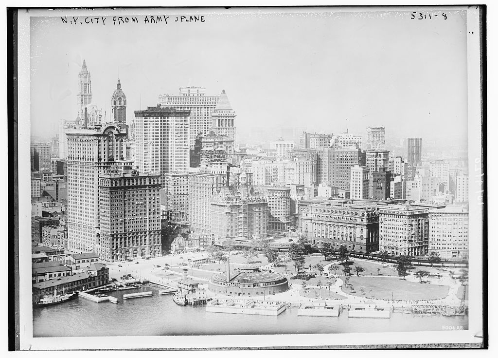 N.Y.C. from Army plane (LOC)