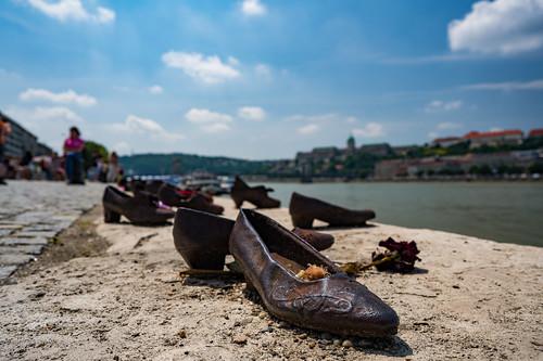 Shoes on the Danube River   by nan palmero