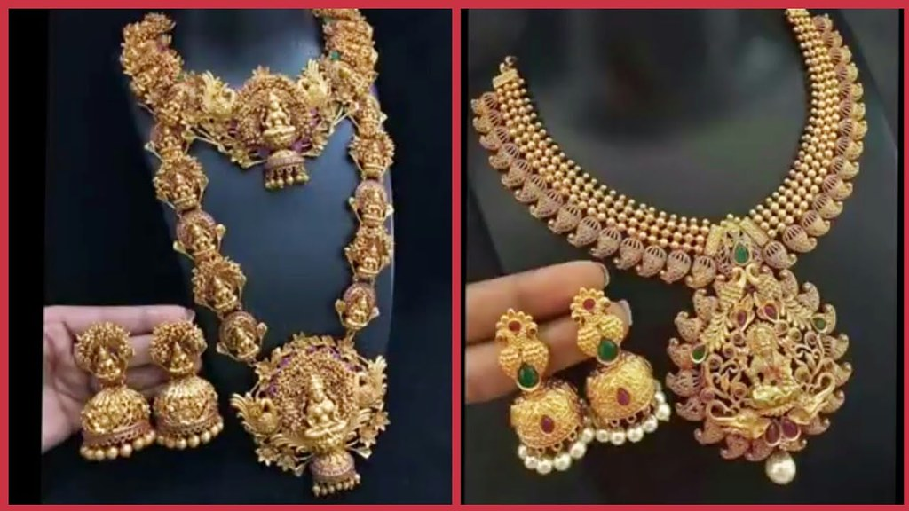 Latest Temple Gold Necklace Designs Top Beautiful Indian Flickr