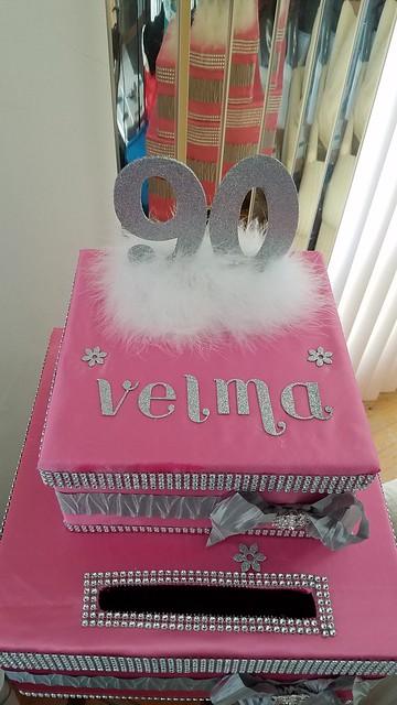 Birthday gift card box
