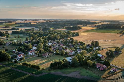 flygfoto nossebro tumleberg västragötaland sverige swe