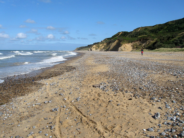 The beach east of Cromer