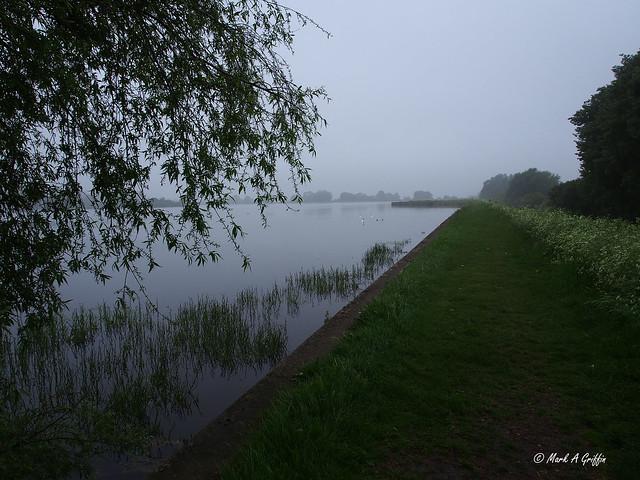 reservoir in the mist
