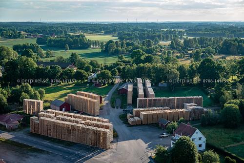 österbitterna 3 flygfoto sågverk vedum västragötaland sverige swe