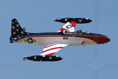columbus airforce base afb cbm kcbm airport mississippi airshow airplane aircraft jet lockheed t33 shootingstar warbird nx230cf 242412
