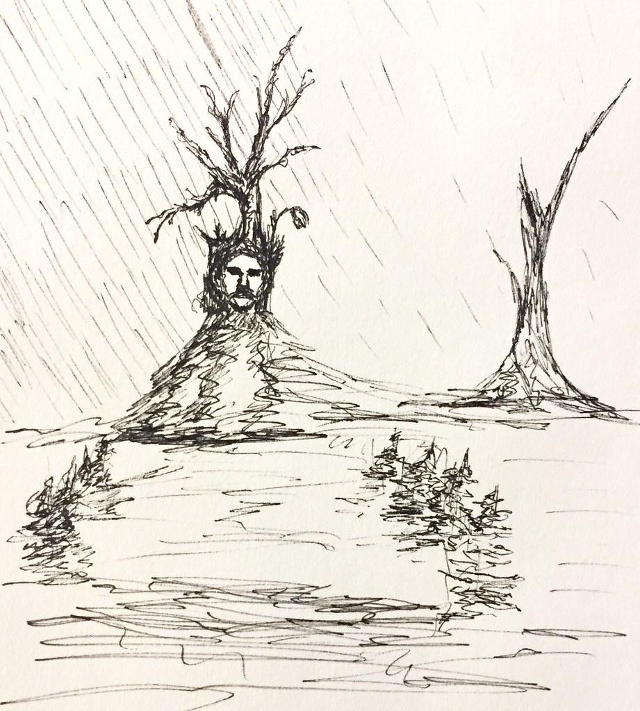 Rainy day dreamscape drawing sketch sketchbook penandink dreamscape nonesense