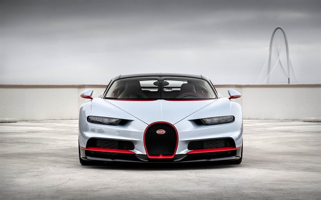 Best Sports Cars : Bugatti Chiron, 2018, front view, 4k, hypercar, gray Chiron, supercar, Bugatti