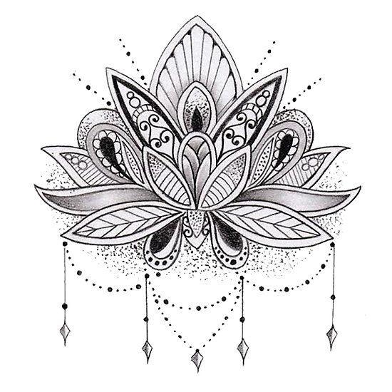 Flowers Drawings  Mandala Lotus Flower \u2026