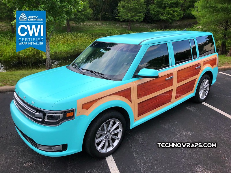 Woodie inspired vinyl vehicle wrap by TechnoSigns in Orlando