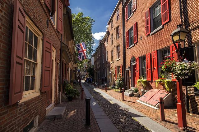 Elfreth's Alley Street - Philadelphia (Pennsylvania)