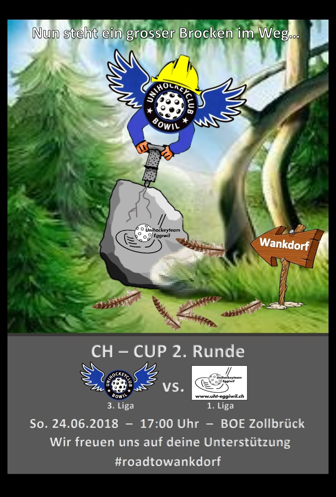 Herren I - CH-Cup 2.Runde UHC Bowil Saison 2018/19