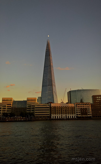 Quarter Moon and The Shard