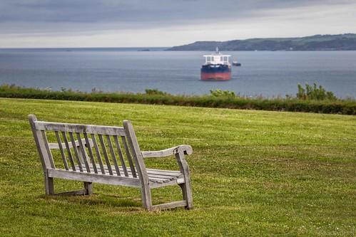 coastline landscape ships falmouth seaside water ocean maritime pendenniscastle galvanol cornwall atlantic clouds