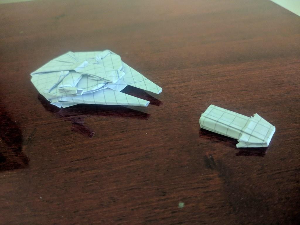 Star Wars Millennium Falcon origami   Bubanana   768x1024