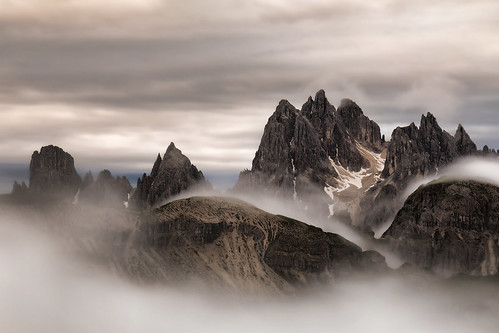 """Dramatic sunrise""     Cadini di Misurina - Dolomites 