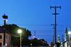 Die Dorf-Skyline am Abend
