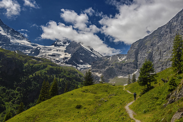 The way to Oberhornsee. Lauterbrunnental , Canton of Bern, Switzerland.  Izakigur 28.06.18, 12:53:14 .No. 583.