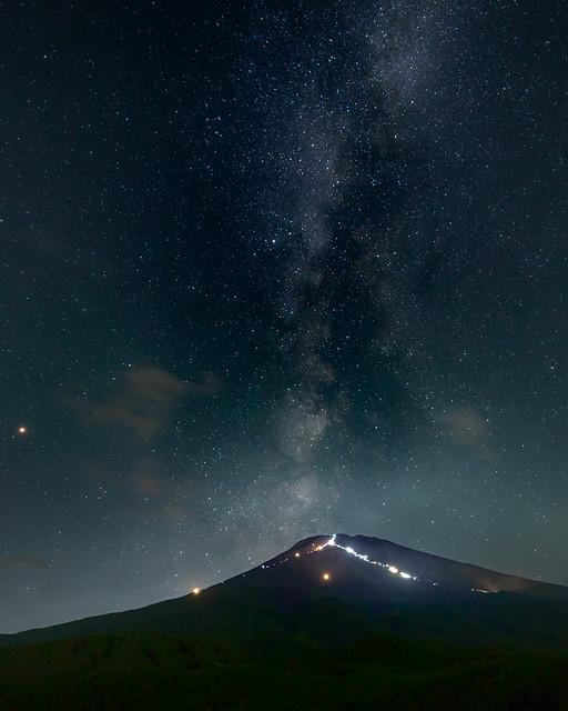 Milky Way to the Fuji  summit