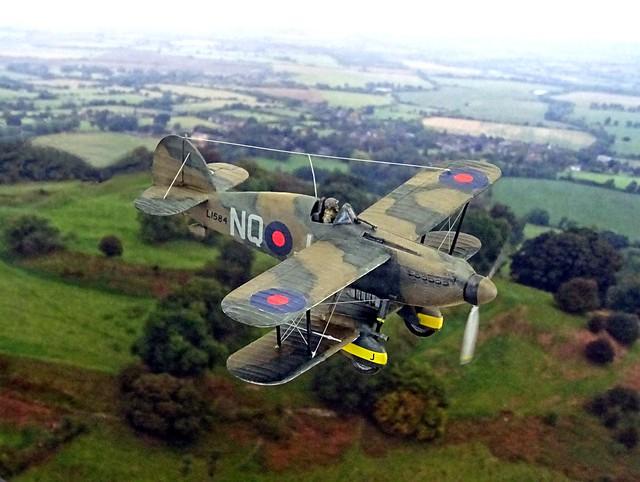 "1:72 Hawker Furore Mk. II, aircraft ""NQ-J/L1485"" of the Royal Air Force No. 43 Squadron ""B Flight"", RAF Henlow, Hertfordshire (UK); November 1938 (Whif/modified Matchbox kit)"