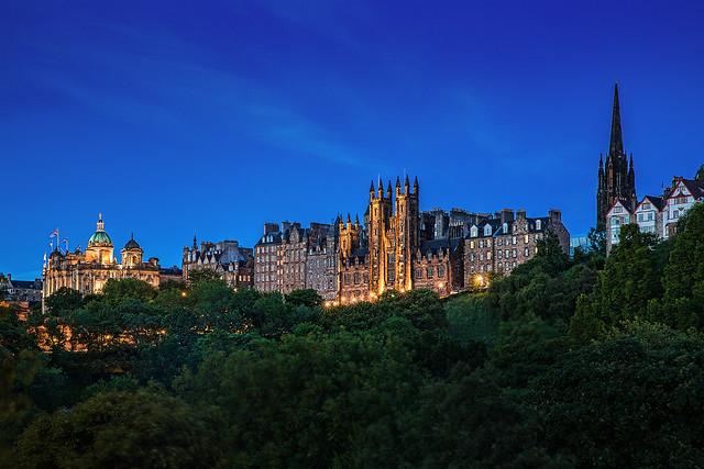View of the historic Edinburgh