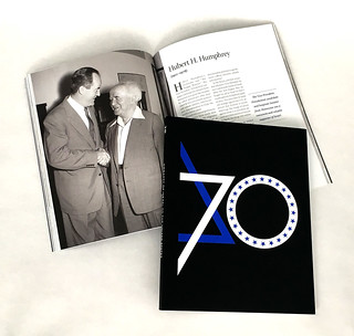 Israeli Embassy 70th Anniversary Book and Logo | by Sensical
